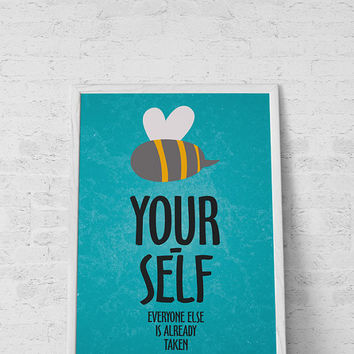 Nursery wall art- Be yourself-Everyone else is already taken art for nursery-