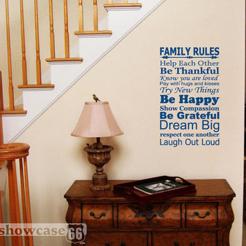 Family Rules Vinyl Wall Art FREE Shipping Know by showcase66