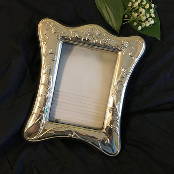 Silver Plated Photo Frame Vintage Ornate Floral Picture Holder With Photo Album Compartment 36 Photo Holders Photography Home and Hobby