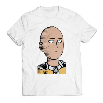 Saitama Poker Face One PunchMan Anime Clothing T shirt Men