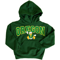 Fighting Oregon Ducks Hoody Sweatshirt (Youth) | T-Line Designs