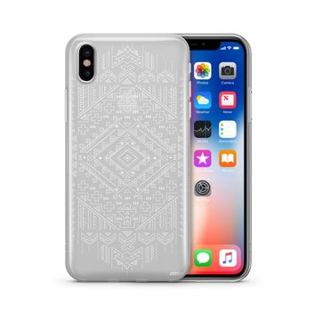 Henna Ethnic Ikat - Clear TPU Case Cover