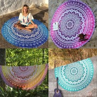 2016 New Bohemian Indian Round Mandala Tapestry Wall Hanging Hippie Boho Beach Throw Towel Yoga Mat Hippy Gypsy Tablecloth Decor