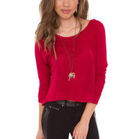 Campfire Kisses Top - Red