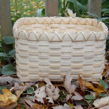 Handwoven Storage Basket - 9 3/4 inches x 8 1/4 inches x 5 1/2 inches - Bin Basket - Bathroom Storage