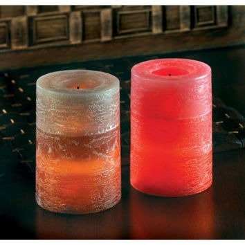 Rustic Flameless Candle Set