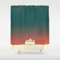 Quiet Night - starry sky Shower Curtain by Picomodi