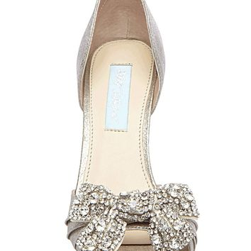 Betsey Johnson – SB-Gown Pump In Silver Metal | Thirteen Vintage