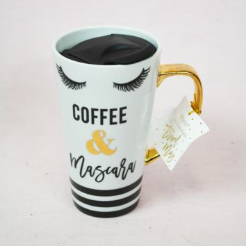 coffee & mascara travel mug