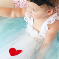 Beautiful Alice in Wonderland Tutu Dress Costume with Black Bow Headband for Baby Girl 6-18 Months First Birthday