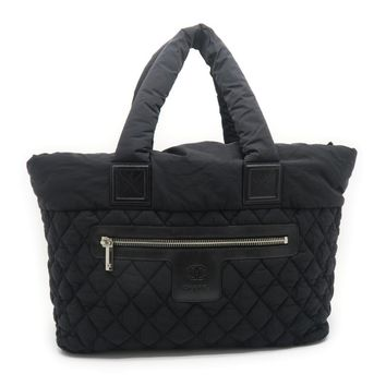 Chanel Quilted Cloth Coco Cocoon Shoulder Bag Black 6526