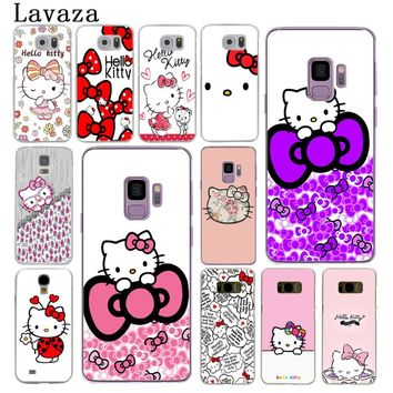 Lavaza Fashionable Hello Kitty Hard Phone Cover Case for Samsung Galaxy S8 Plus S9 Plus S3 S4 S5 S6 S7 Edge Cases