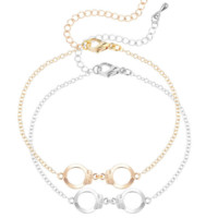Handcuffs Bracelet (gold or silver color)