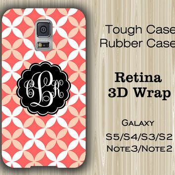 Carrot Floral Monogram Samsung Galaxy S5/S4/S3/Note 3/Note 2 Case