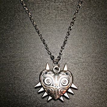 Majora Mask - Zelda Necklace Triforce Jewelry Skull Kid