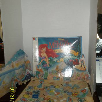 vintage 1990's walt disney the little mermaid 3d under the sea game complete