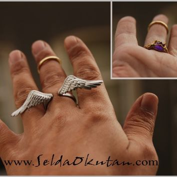 Angel Ring (It is not innocent as its seen) (Comes with Climbing Man Pin Gift )