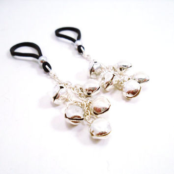 Jingle Bells Nipple Charms Non Piercing Intimate Jewelry