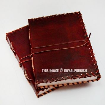 Genuine Leather Bound Journal Diary Notebook on RoyalFurnish.com
