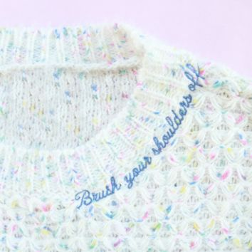 Brush Your Shoulders Off Women's Knit Sweater