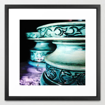 Fine Art Photography - Blue Cake Stands, Vintage, Kitchen Decor, Cafe Art, Restaurant Art, Antiques, Fried Green Tomatoes, Food, Vintage