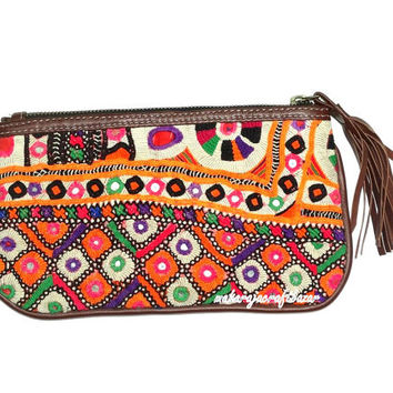 Vintage Banjara Clutch Gypsy Banjara Clutch purse Tribal Embroidered wallet