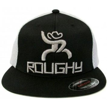 HOOey Cap Curl Roughy Black and Silver FlexFit Cowboy Cap