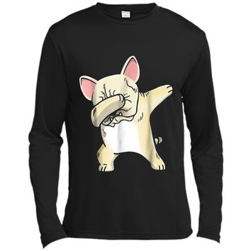 Frenchie Dabbing  French Bulldog Kids Clothes Long Sleeve Moisture Absorbing Shirt