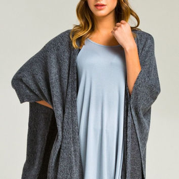 Morning Coffee Cozy Cardigan - Charcoal