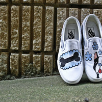 Hand-drawn Classic Vans Slip-on Shoes: LUCAS
