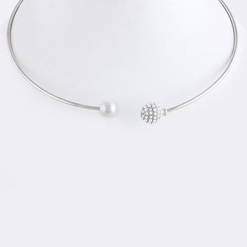 Open Collar Pearl Necklace