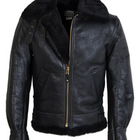 Classic B-3 Sheepskin Leather Bomber Jacket 257S