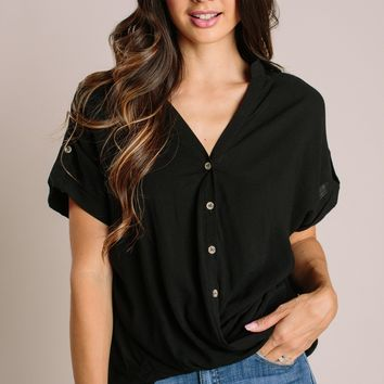 Jacinda Button Down Short Sleeve Top