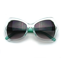 Womens Bold Fashion Mod Colorful Butterfly Sunglasses