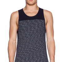 wings + horns Stripe Jersey Tank in Navy