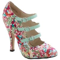 Floral Confetti Printed Hill Multi Pumps 62% off retail
