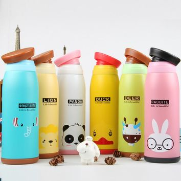 HOT Cartoon CutThermos Cup Stainless Steel Bottle Thermal Bottle Insulated Tumbler Travel Thermo cup Coffee Mugs Free Shipping