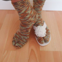 Women Split Toe Socks, Japanesse Tabi Socks, Thong Socks, Flip Flops Socks