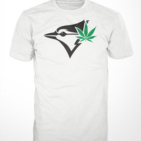 Toronto Blue Jays T-Shirt - mens shirts funny baseball screen printed gift weed tee marijuana tshirt humor womens graphic sports MLB jersey