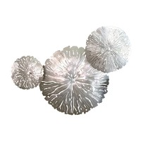 Lily Pad Clusters Antique Nickel Wall Sculptures - Set of 3 by Global Views