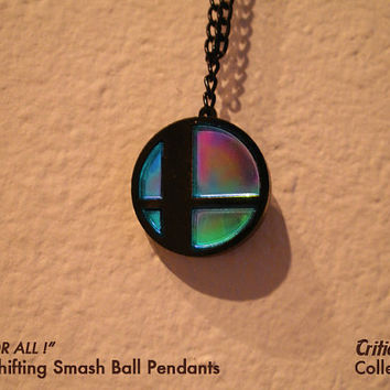 Color Shifting Smash Ball - video game jewelry nerd gifts yoshi zelda mario super smash bros