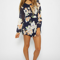 Lily Playsuit - Navy