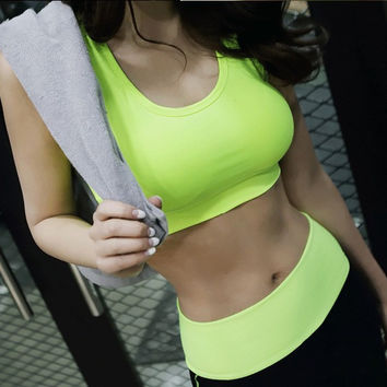 Korean Mat Bra Vest Jogging Gym Sports Bra [10195860556]