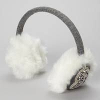 Silver Rhinestone Beaded Ear Muffs