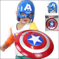 2016 FS The Avengers Captain America Hero The Winter Soloier Shield Light-Emitting 30cm + Captain Mask Cosplay Boys Gift Toy