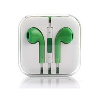 Green Headset Headphones Earphones Volume Remote+Mic For Apple iPhone 4 iPhone 4S iPhone 5 iPhone 5S iPhone 5C iPod touch iPod nano iPod shuffle iPad 2/3/4 (Col = 1696887620