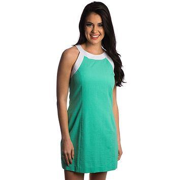 The Arden Seersucker Dress in Seafoam by Lauren James - FINAL SALE