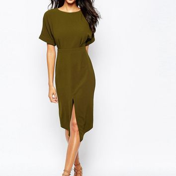 ASOS TALL Wiggle Dress with Split Front