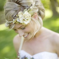 vine crown ivory ribbons no 101 natural woodland by whichgoose