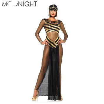 Egyptian Cleopatra womens costume persian goddess black gold halloween costume
